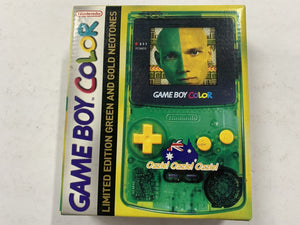 Limited Edition Ozzie Ozzie Ozzie Green & Gold Gameboy Color Console Complete In Box