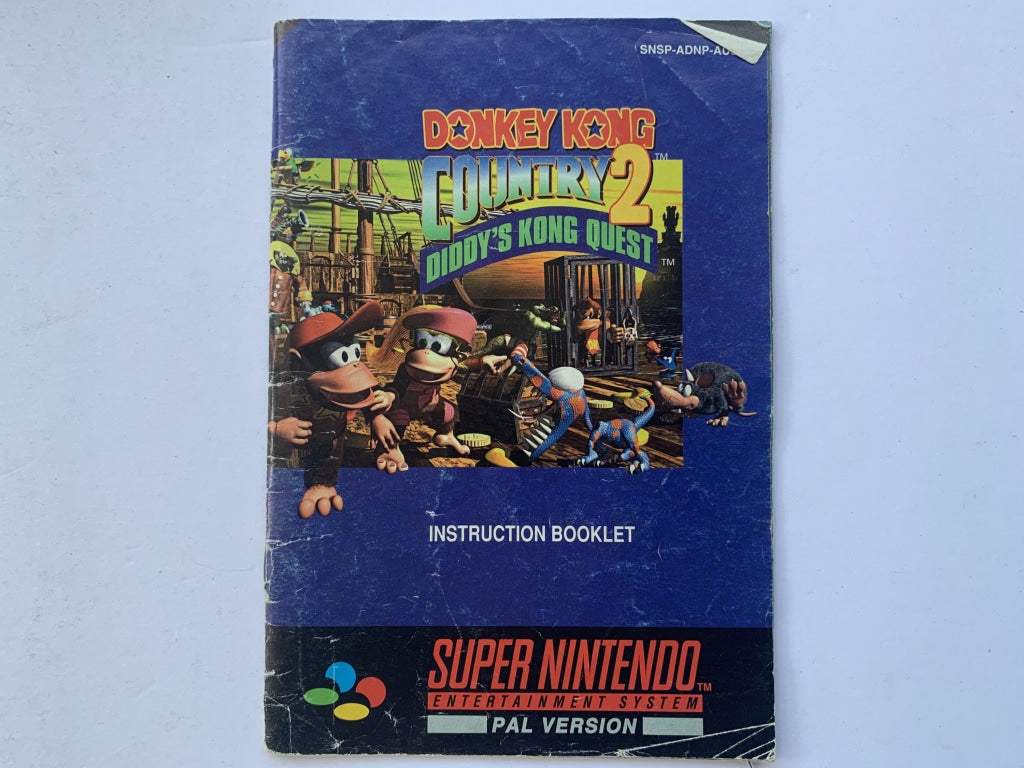Donkey Kong Country 2: Diddy Kong's Quest Game Manual