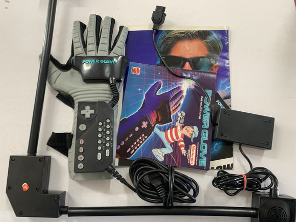 Nintendo NES Power Glove Hand Motion Controller with Sensor Bar