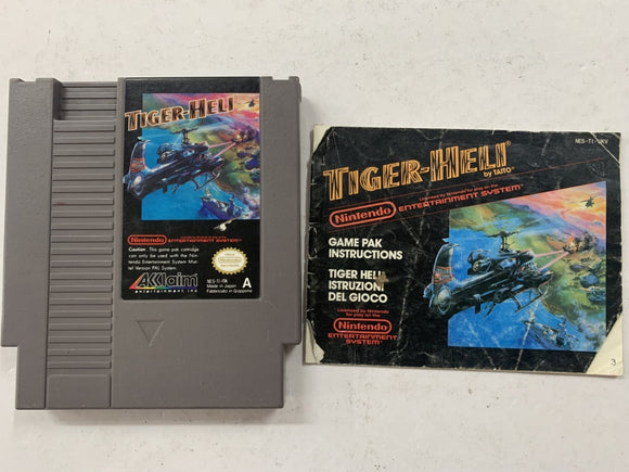 Tiger-Hell Cartridge with Game Manual