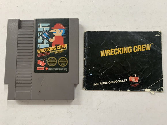 Wrecking Crew Cartridge & Game Manual