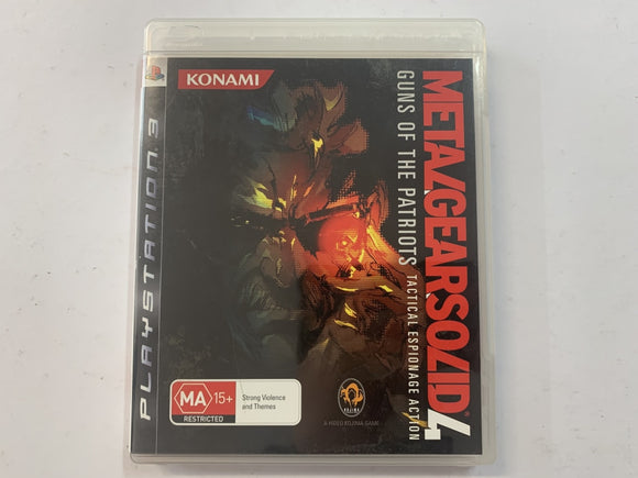 Metal Gear Solid 4 Guns Of The Patriots Complete In Original Case