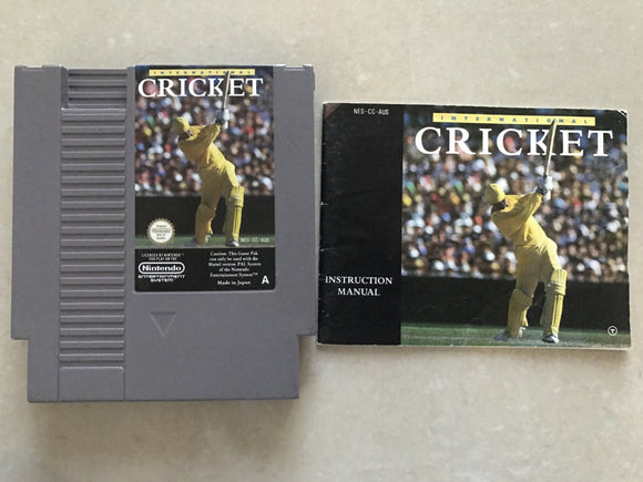 Cricket Cartridge with Game Manual