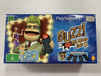 Buzz The Sports Quizz In Original Box with Buzz Controllers missing Game