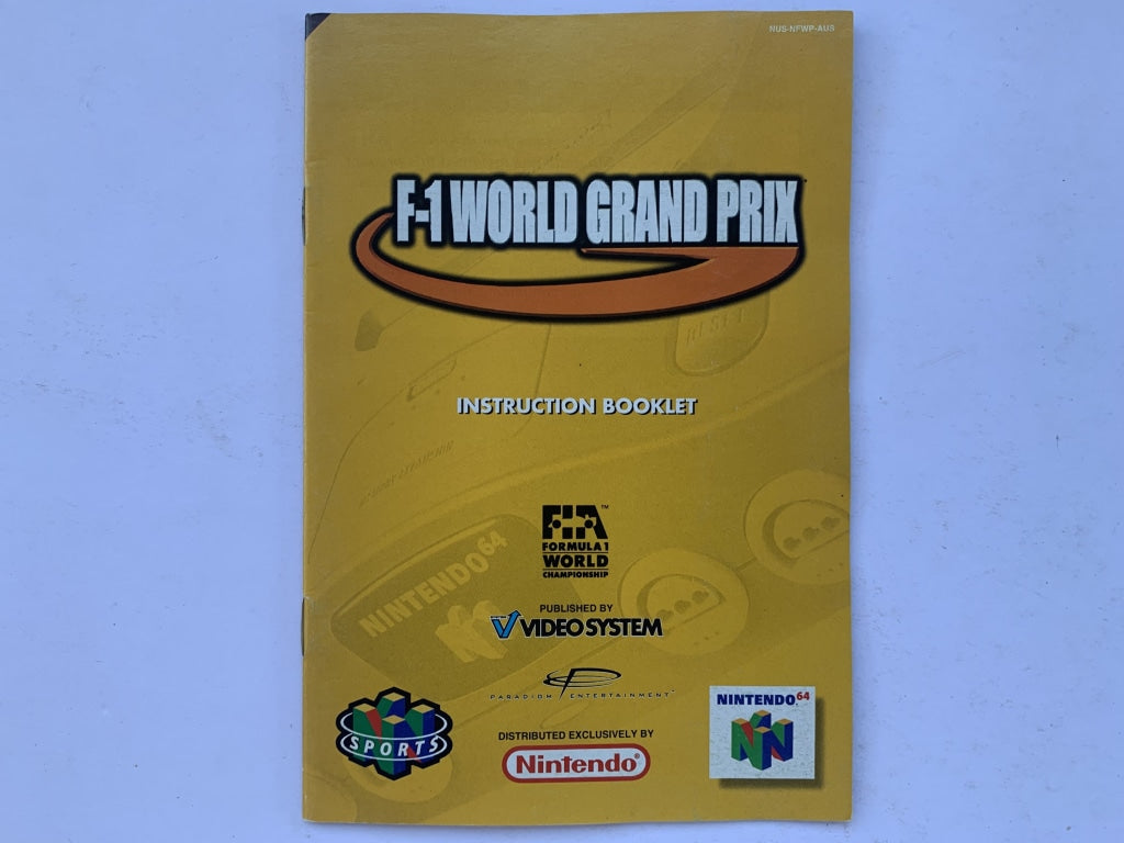 F1 World Grand Prix Game Manual