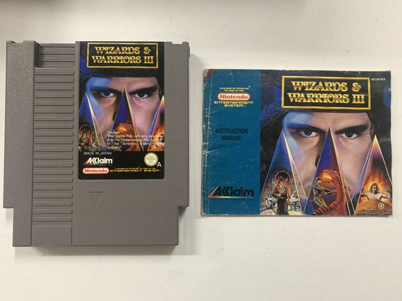 Wizards & Warriors 3 Cartridge with Game Manual