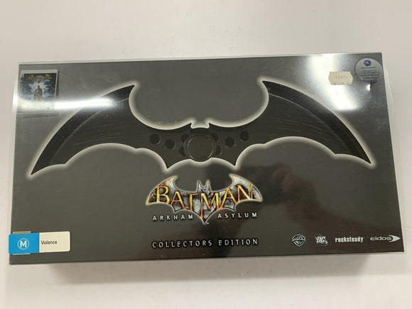 Batman Arkham Asylum Collectors Edition Complete In Box