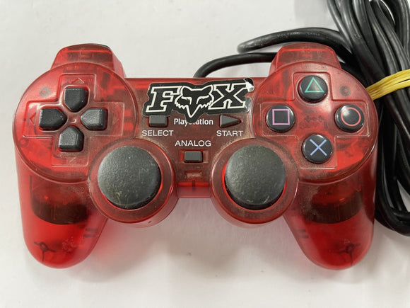 Genuine Clear Red Dualshock Playstation 2 Controller