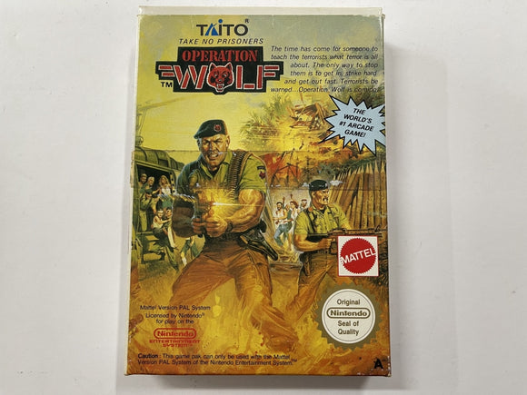 Operation Wolf Complete In Box