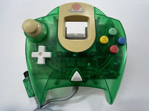 Genuine Sega Official Clear Green Dreamcast Controller