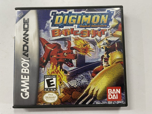 Digimon Battle Spirit Cartridge In Aftermarket DS Style Case