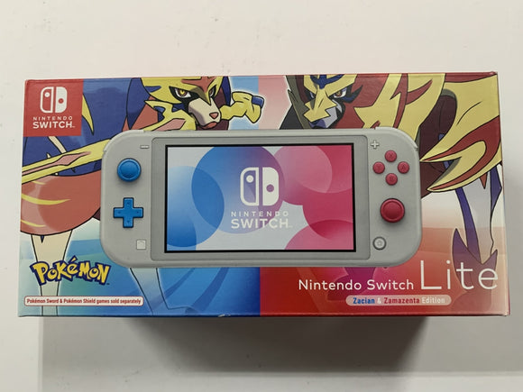 Nintendo Switch Lite Limited Zashian & Zamazenta Edition Console Complete In Box Bundle