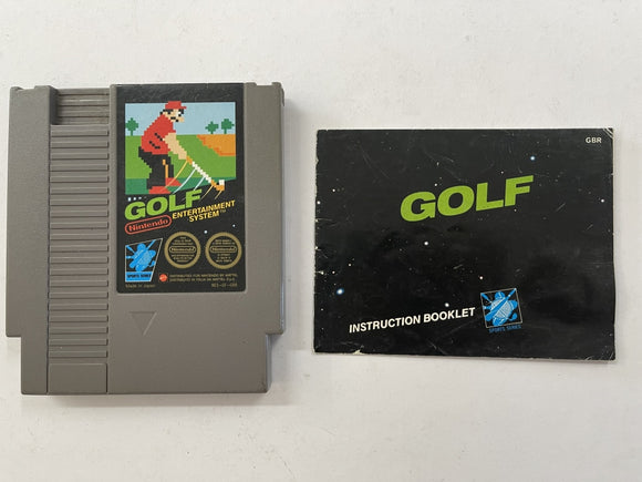 Golf Cartridge with Game Manual