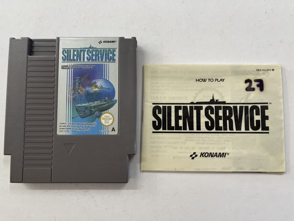 Silent Service Cartridge with Game Manual