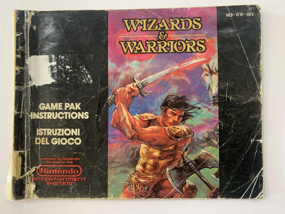 Wizards & Warriors Game Manual