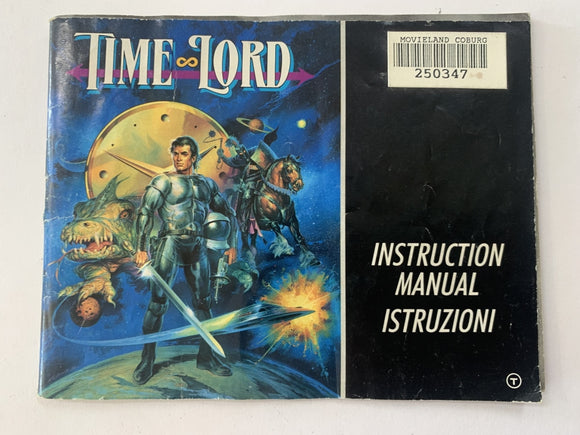 Time Lord Game Manual
