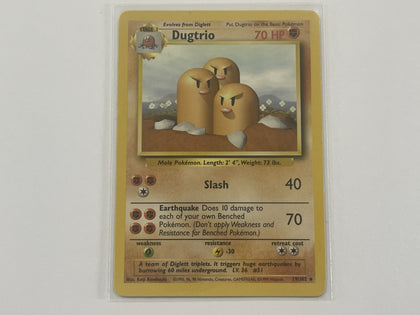 Dugtrio 19/102 Base Set Pokemon TCG Card In Protective Penny Sleeve