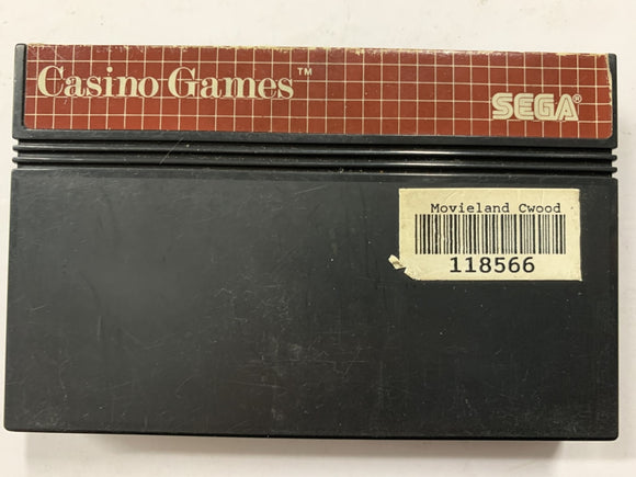 Casino Games Cartridge