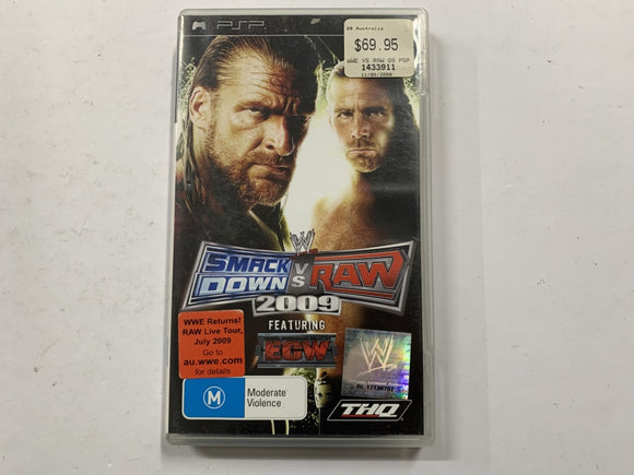 Smackdown VS Raw 2009 Featuring ECW Complete In Original Case