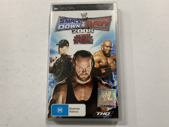Smackdown VS Raw 2008 Featuring ECW Complete In Original Case