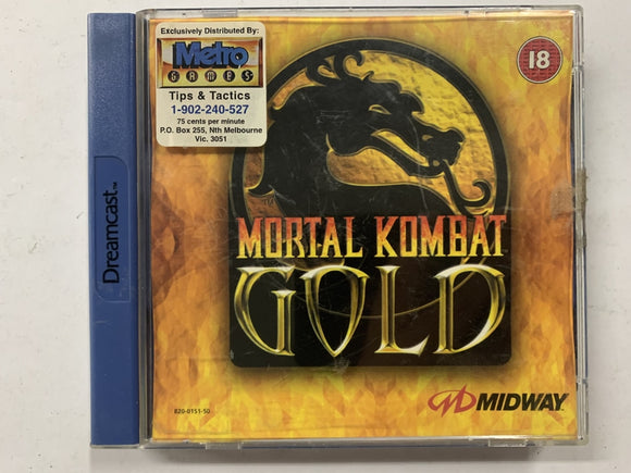 Mortal Kombat Gold Complete In Original Case