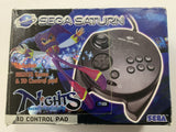Sega Saturn 3D Control Pad Controller Complete In Box with Nights Game Disc