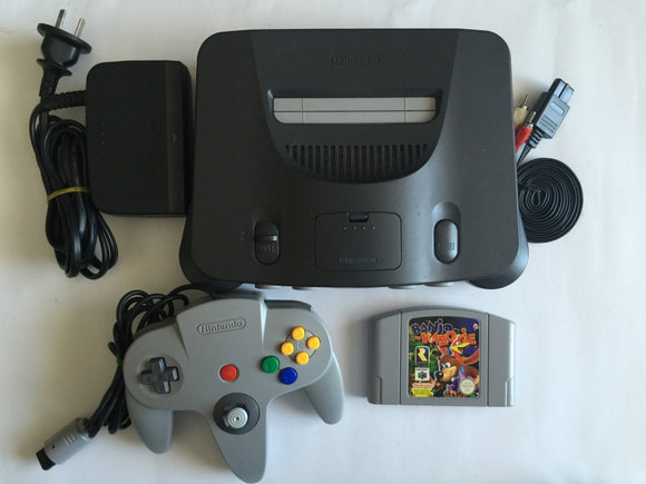Nintendo 64 N64 Console with 1 Controller & Banjo Kazooie