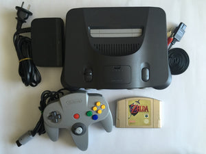 Nintendo 64 N64 Console with 1 Controller & Zelda Ocarina Of Time