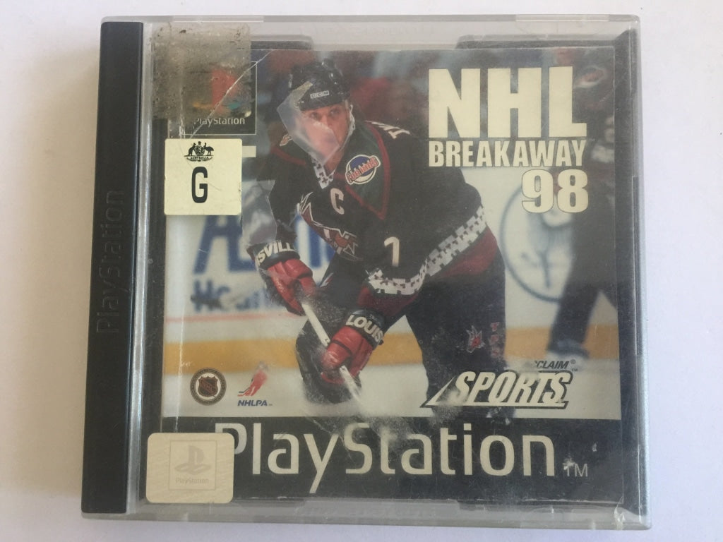 NHL Breakaway 98 Complete In Original Case with Game Manual