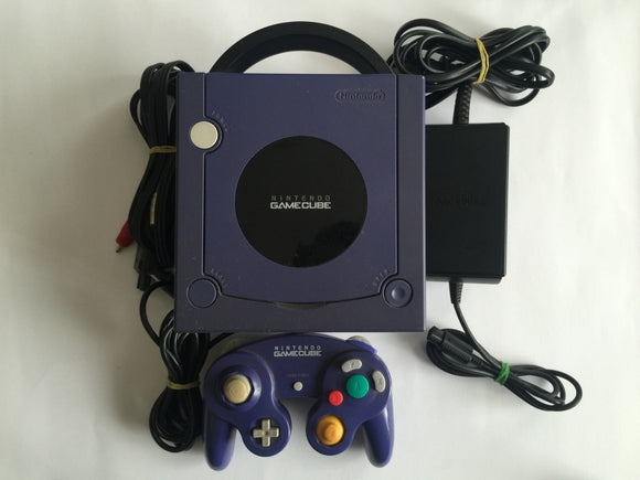 Indigo Purple Nintendo Gamecube Console with Controller