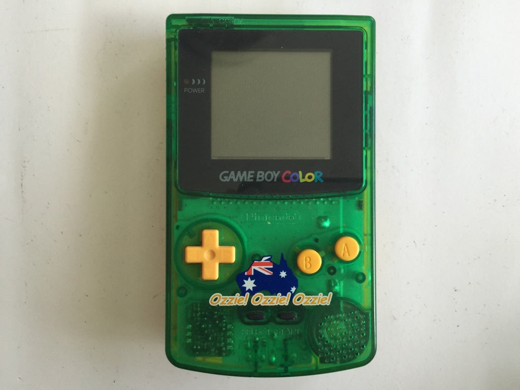 Limited Edition Ozzie Ozzie Ozzie Green Gold Gameboy Color Console The Game Experts