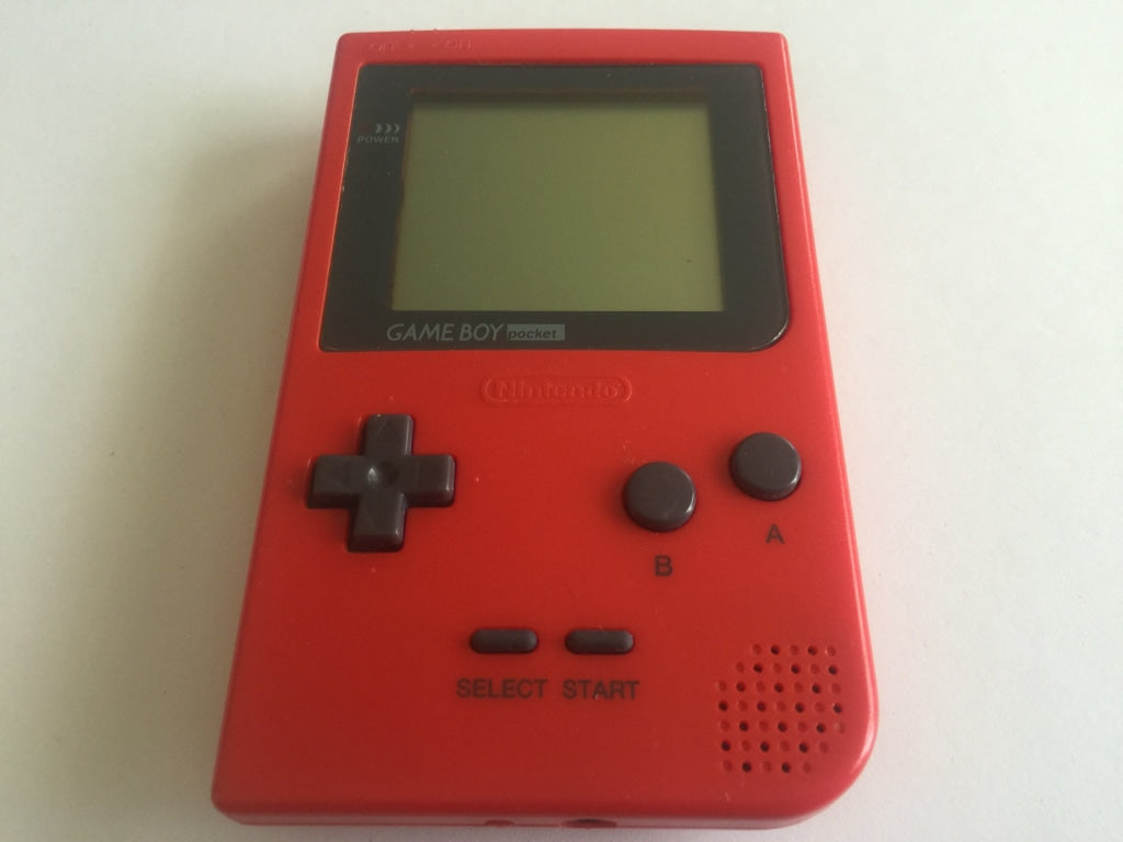 Red Nintendo Gameboy Pocket Console