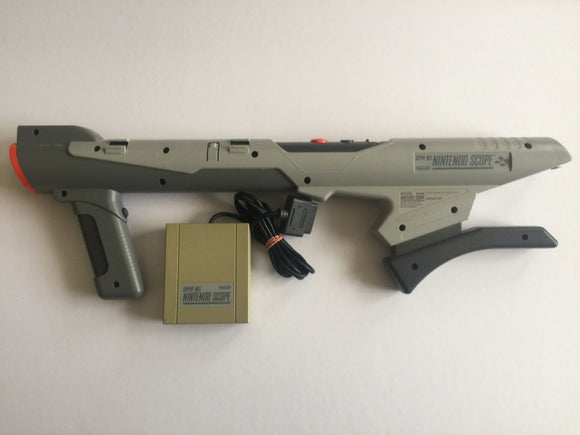 Genuine Super Nintendo SNES Scope Gun with Receiver