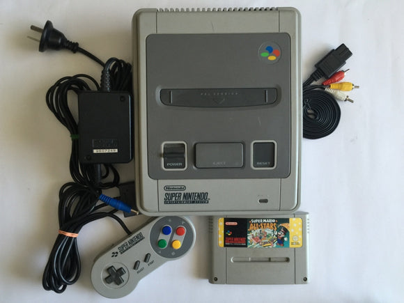 Super Nintendo SNES Console with 1 Controller & Super Mario All Stars