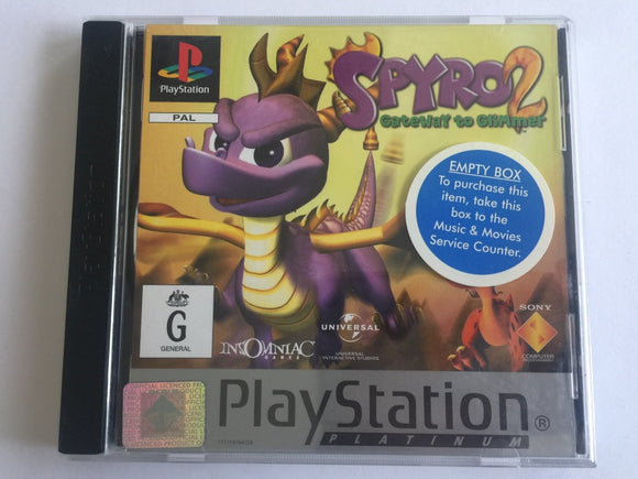 Spyro The Dragon 2 Gateway To Glimmer Complete In Original Case