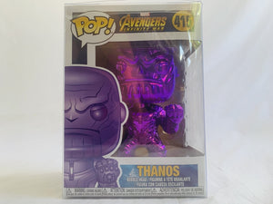 Marvel Avengers 3 Infinity War Thanos Purple Chrome US Exclusive #415 Funko Pop Vinyl Figure [RS] Brand New & Sealed with Free Pop Protector