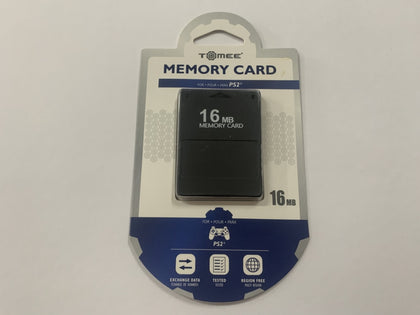 Aftermarket Tomee Playstation 2 PS2 16MB Memory Card Brand New & Sealed