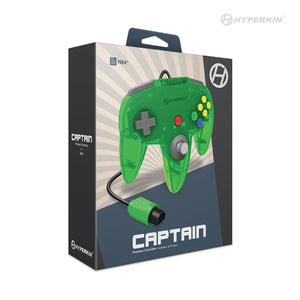 Brand New & Sealed Captain Premium Lime Jungle Green Controller For N64