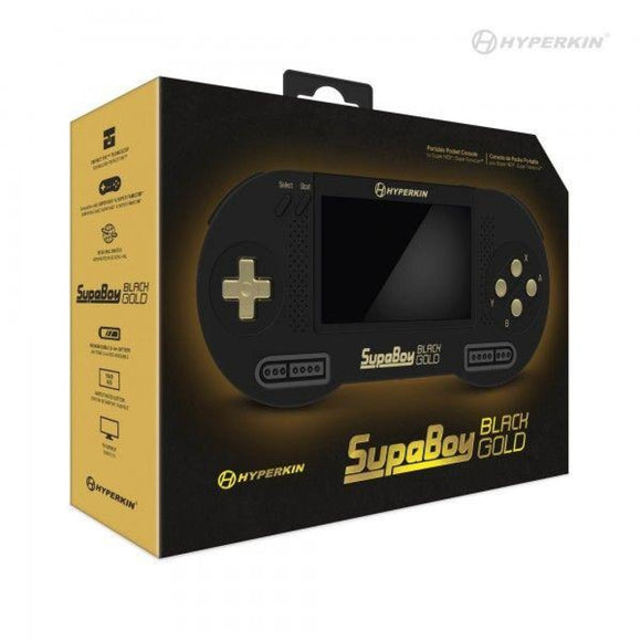 Brand New SupaBoy BlackGold Portable Pocket Console for SNES