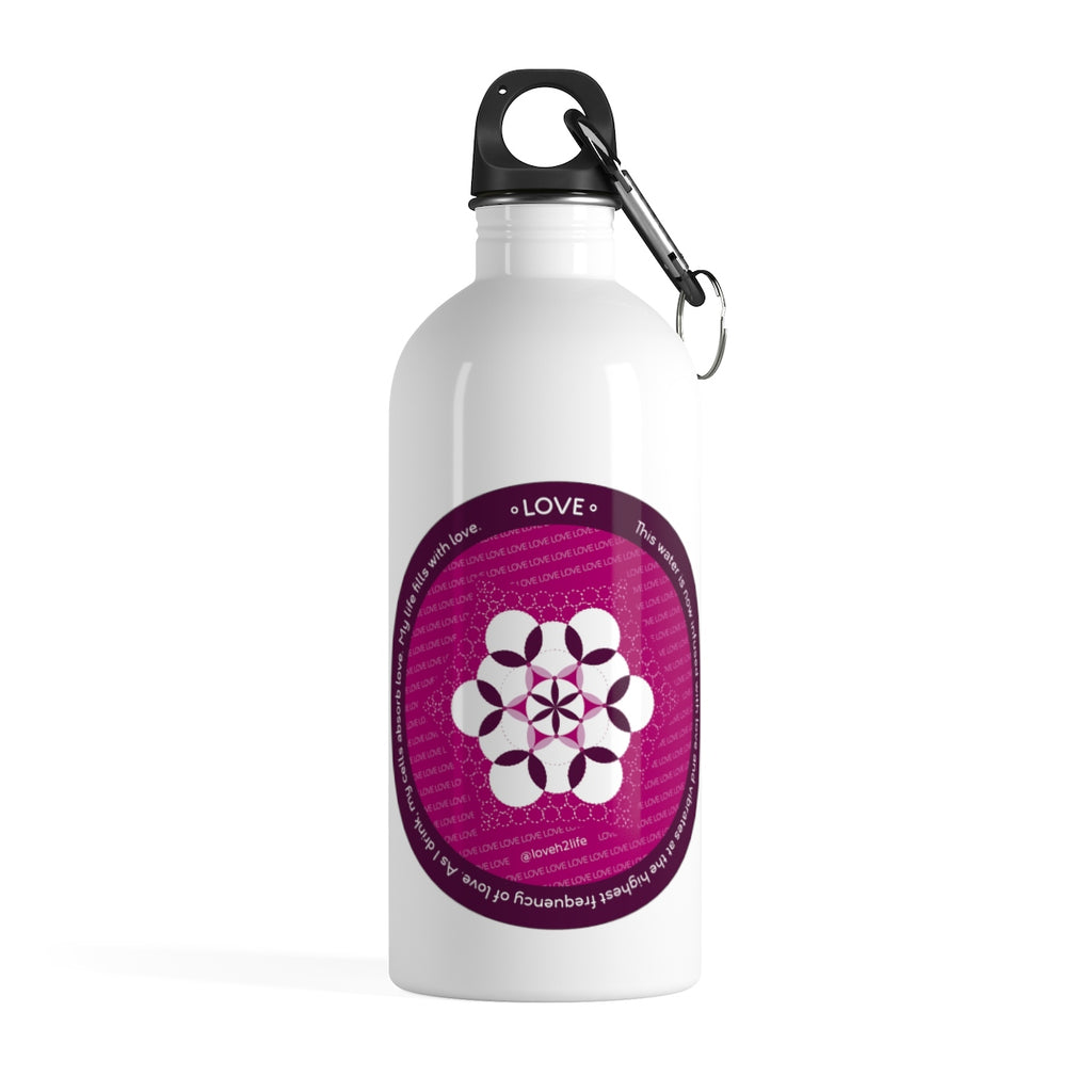 Love: Sacred Geometry Water Bottle