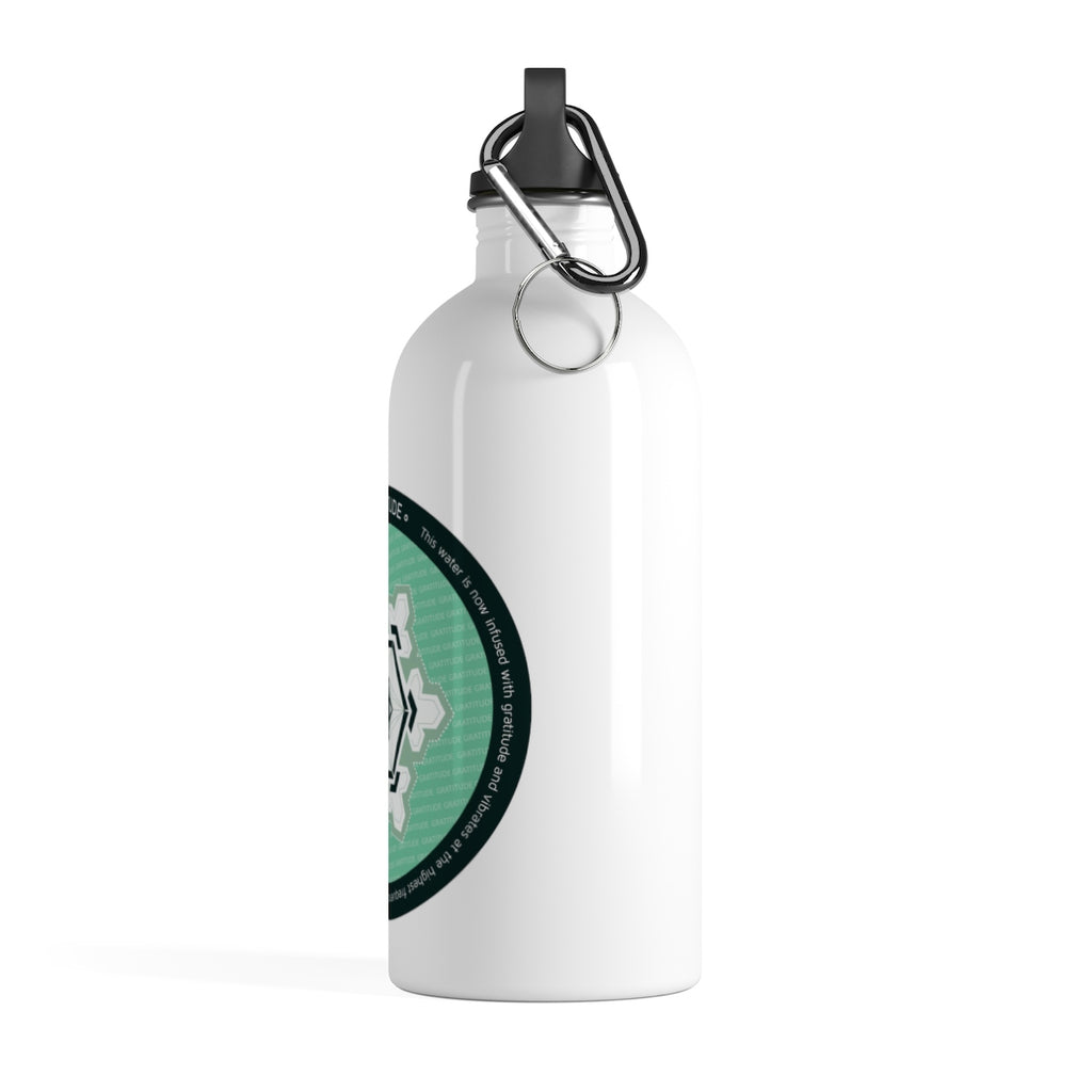 Gratitude: Sacred Geometry Water Bottle