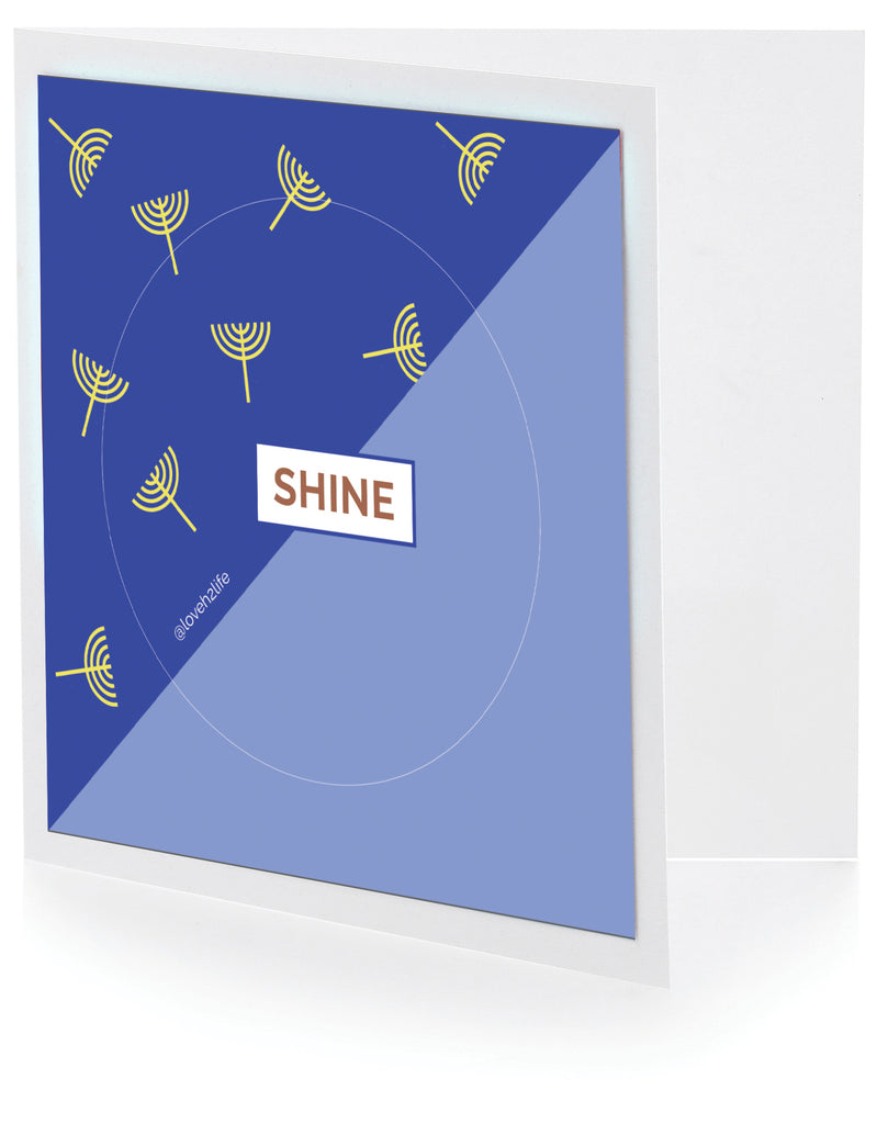 Shine Chanukah Keepsake Card
