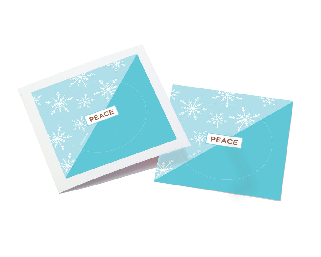 Peace Sticker Keepsake Card