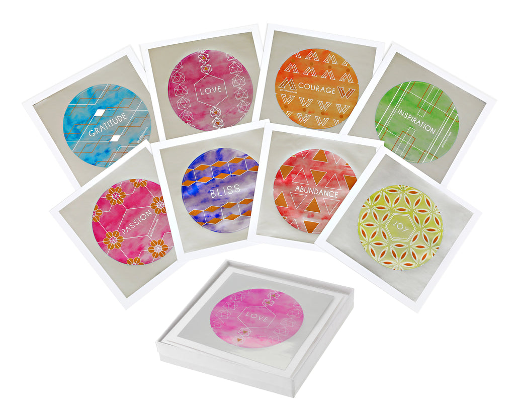 Set of 12 Sticker Keepsake Cards - Hi-Vibe Collection