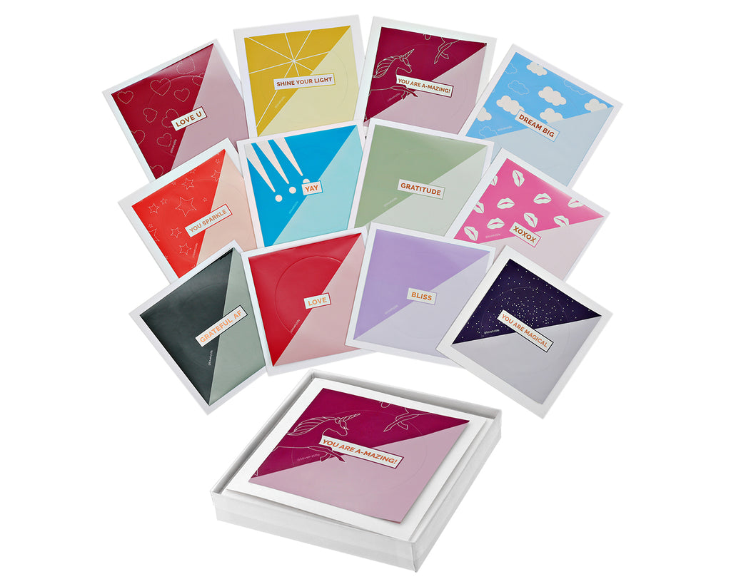 Inspiration Collection - Set of 12 Sticker Keepsake Cards