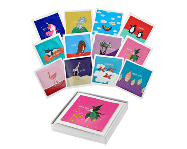 Set of 12 - H2 Life Sticker Keepsake Cards - Magic Collection