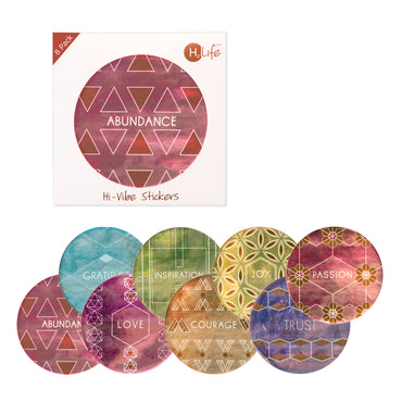 8 Pack - Hi-Vibe Sticker Set - Metallic