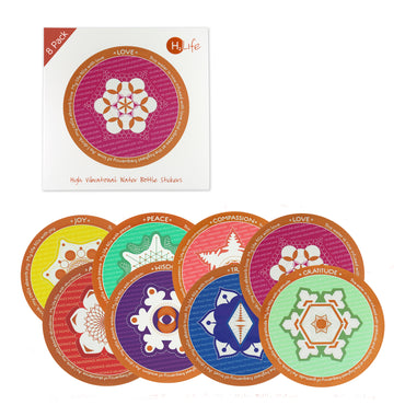 8 Pack - Hi-Vibe Sticker Set - Sacred Geometry