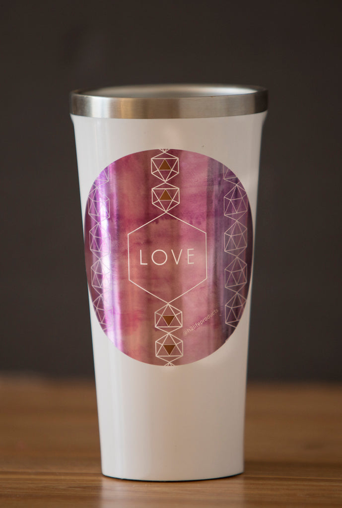 Love Hi-Vibe Sticker - Metallic