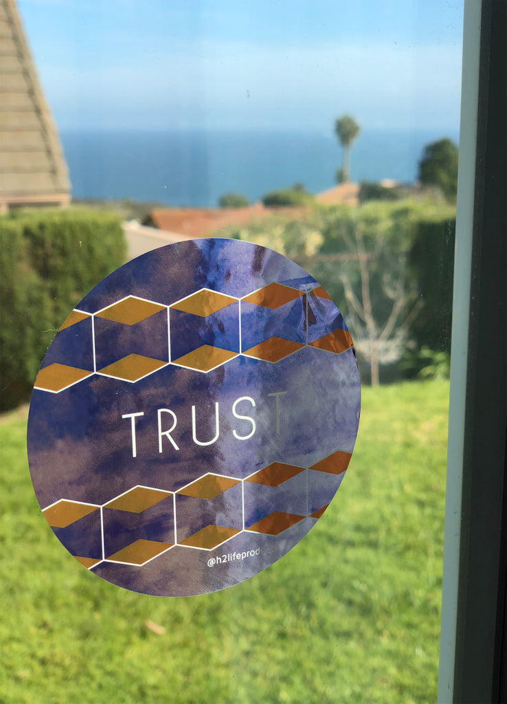 Trust Hi-Vibe Sticker - Metallic